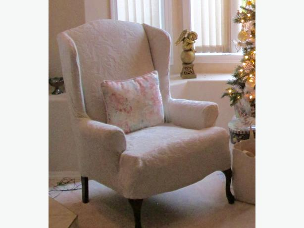 Wing-back Chair Cover