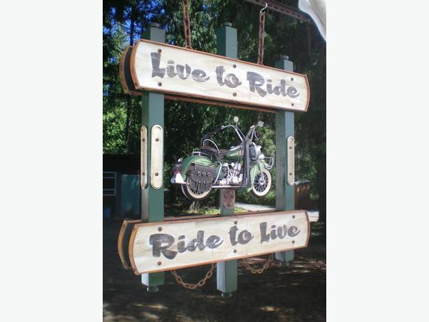 Live to Ride-Ride to Live Motorcycle Sign