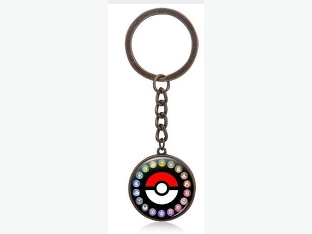 New Pokemon Go Pokeball Keychain Ring Necklace Gift- $6