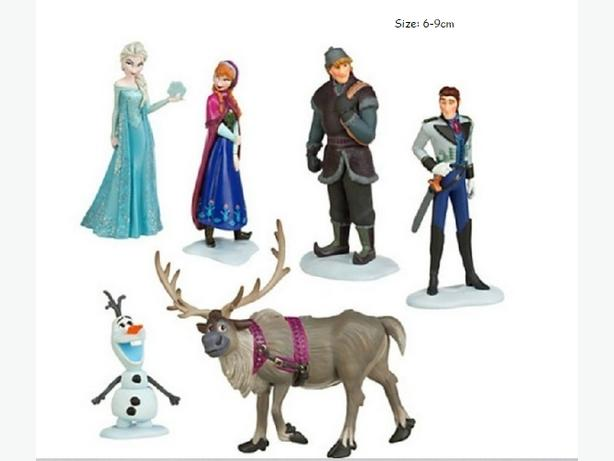 New Set of 6 Frozen Figurines - $15