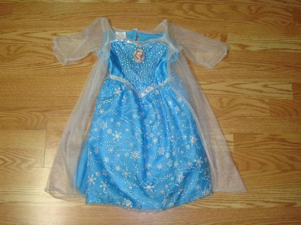 Like New Disney Frozen Sound and Light Dress Toddler Size 4-6X - $14