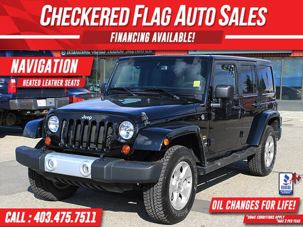 2013 JEEP WRANGLER UNLIMITED SAHARA-NAVIGATION-LEATHER-H.SEATS
