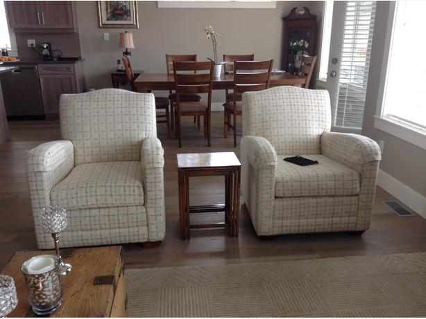 TWO MATCHING ARMCHAIRS