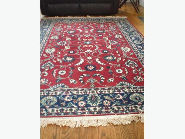 TWO  WOOL  AREA  CARPETS