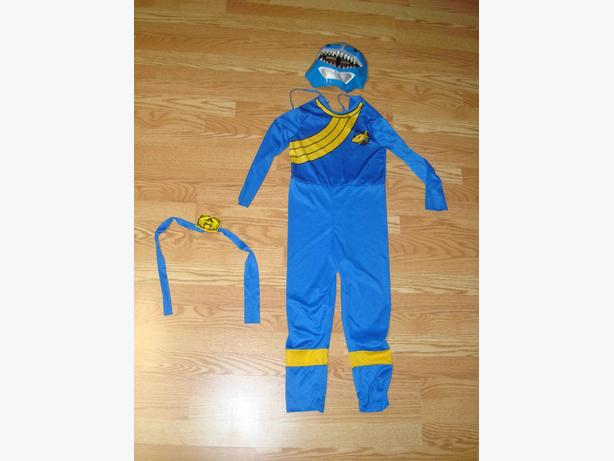 Like New Shark Costume with Mask and Belt Toddler Size 4-6 - $5