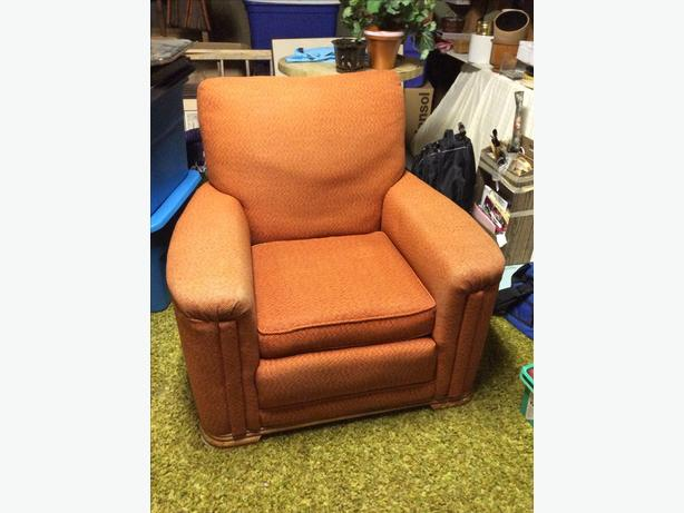 Retro orange arm chair