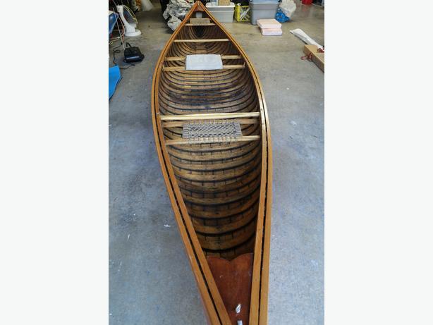 Classic Cedar Canvas Canoe