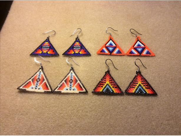 $25 each Beaded Earrings