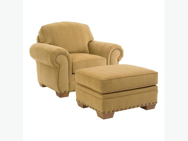 Broyhill two pieces arm chair and ottoman
