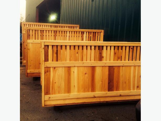 CEDAR ' FENCE PANEL. DECKING AND CEDAR ' FENCE