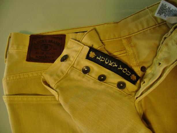 Lucky Yellow Jean Shorts,Or Cotton Blue Shorts,Includes Free Spo