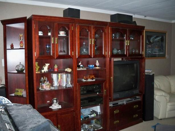 Cherry Wood finish entertainment centre