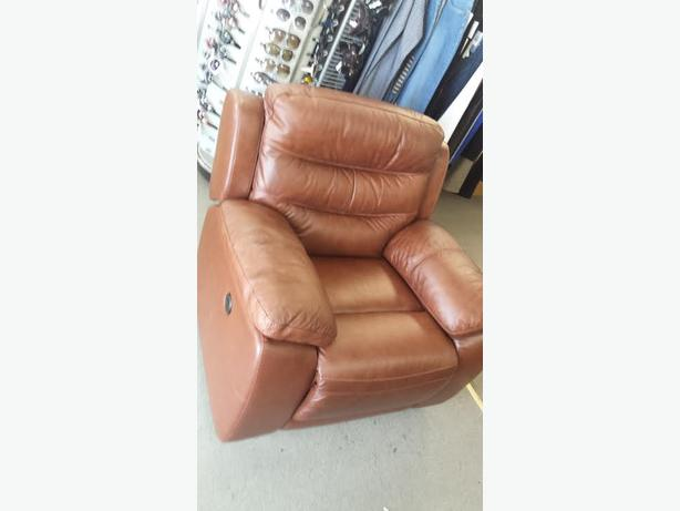 Top Grain Leather Power Recliner Chair