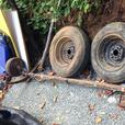 Axle with electric brakes. FREE DELIVERY in Port Alberni