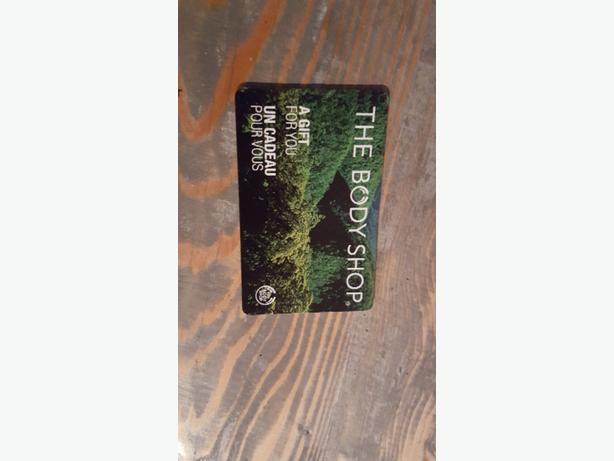 $35 Body shop gift card