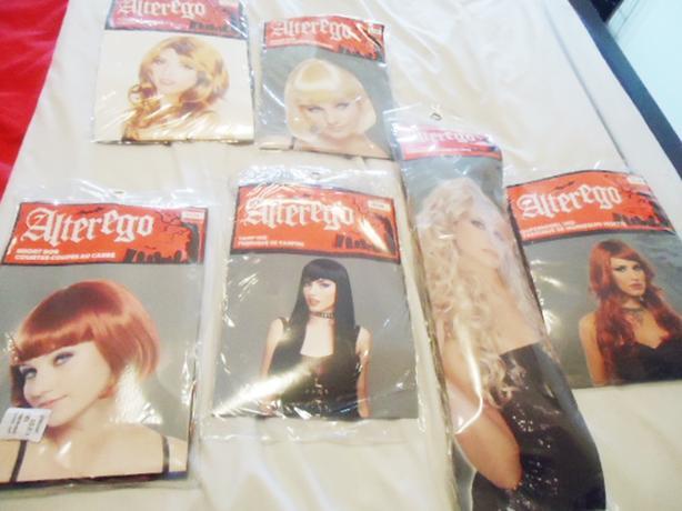 6 Halloween Wigs - Brand New Never Worn
