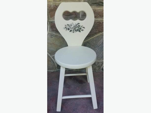 Solid Wood Chair/Stool  Refurbished