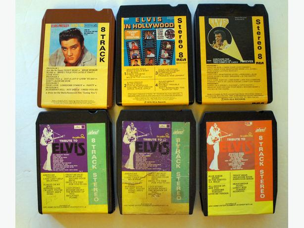 Vintage Collection of Elvis Presley music on 24 Stereo 8 track tape