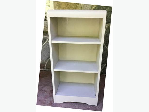 Solid Wood Shelving  Refurbished  Light Grey --H8Z1W9--