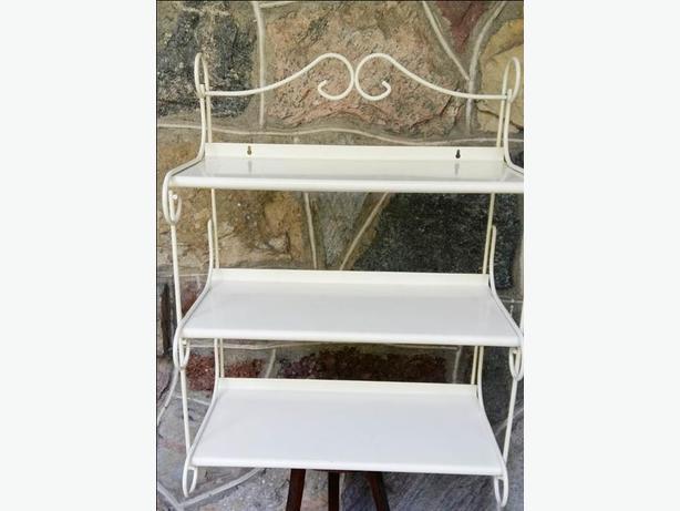 Vintage 60's Original Finish,Metal Wall Mount Shelves----H8Z1W9---