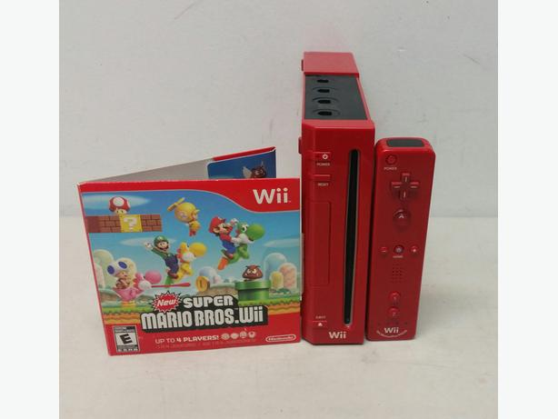 Red wii console