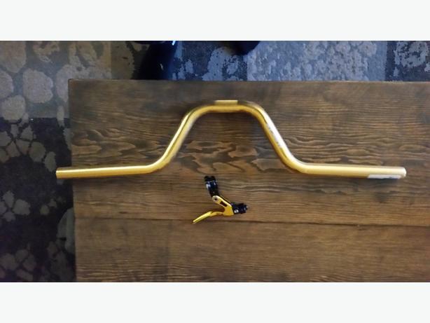 box handle bars and brake lever