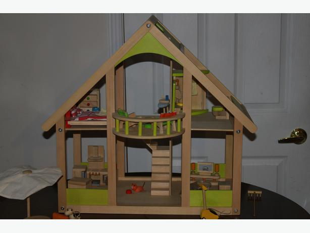 Educo Wooden Dollhouse with Accessories for Sale