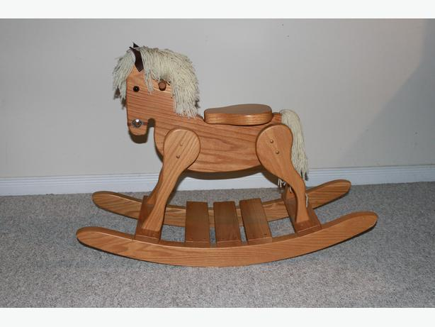 Mint Condition Solid Oak Rocking Horse