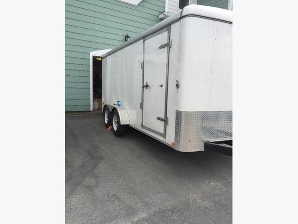 16' enclosed trailer.. used twice!