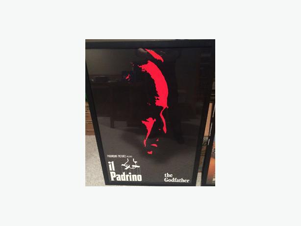 Godfather poster in frame