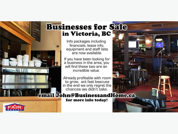 2 solid business opportunities in Victoria, BC