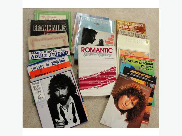 Song books and sheet music