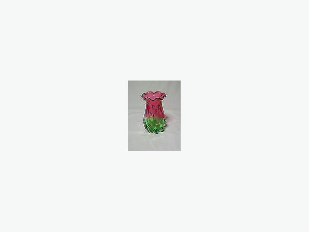 flower -vase watermelon tourmaline art glass