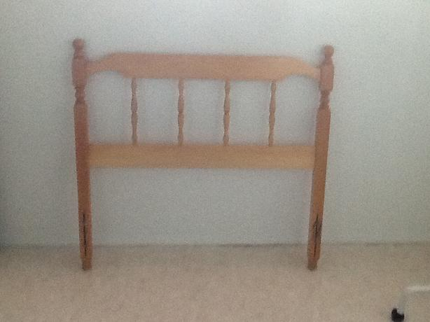 Headboard and frame single bed