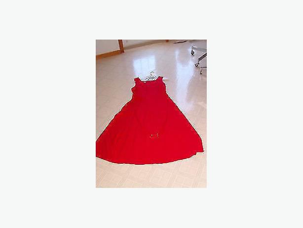 dress   red dress , size 8 ,