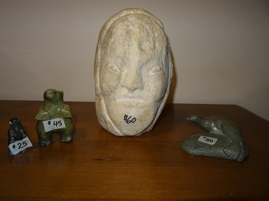 Inuit soapstone carvings north regina
