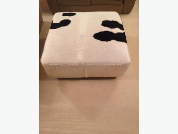 cow hide ottoman