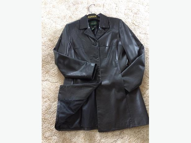 Ladies Danier Leather car coat