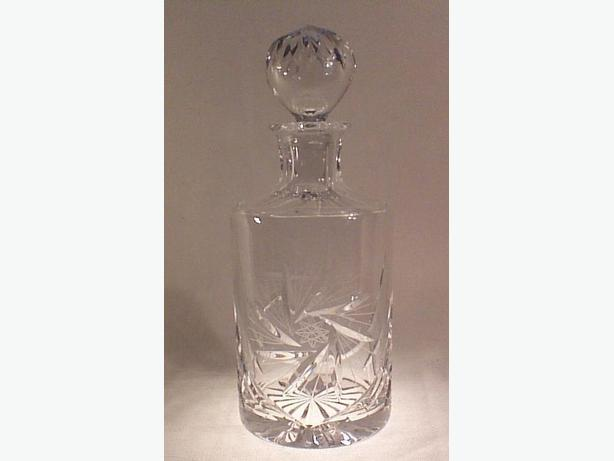 Glass pinwheel decanter