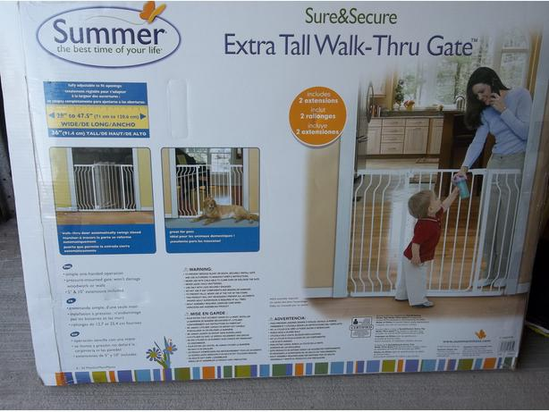 SUMMER SURE AND SECURE EXTRA TALL WALK-THRU BABY GATE
