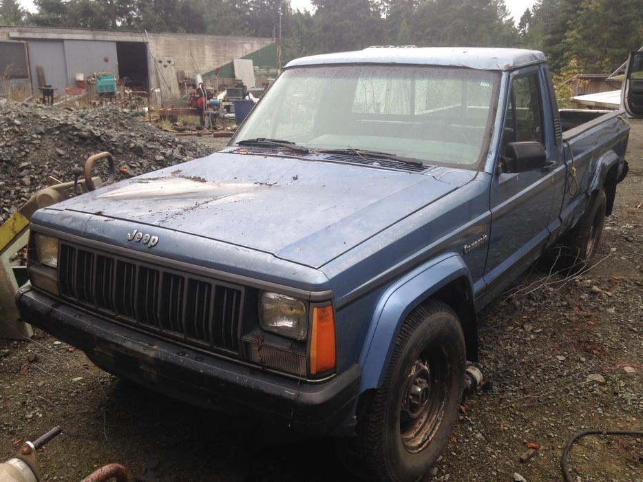 1988 jeep comanche now a parts truck outside victoria victoria. Black Bedroom Furniture Sets. Home Design Ideas