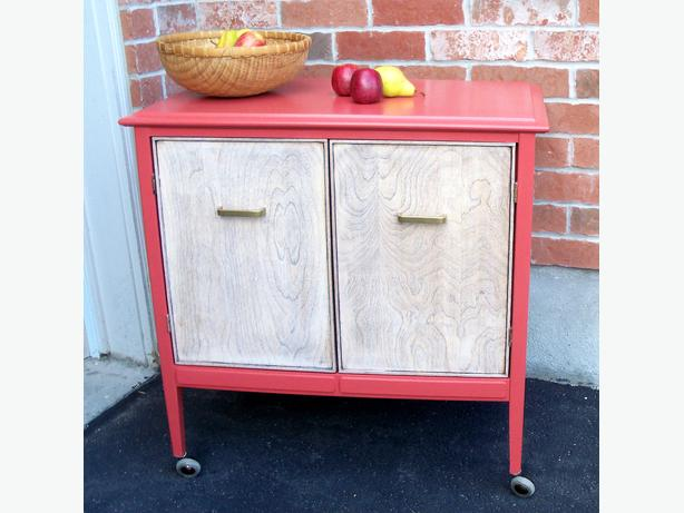 Restyled MINI BUFFET/CABINET on wheels – Free Delivery
