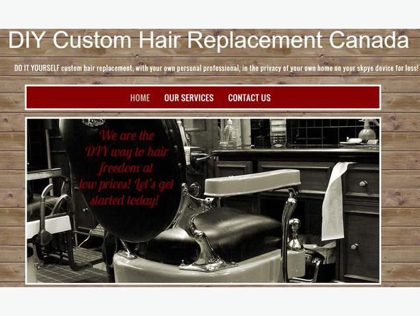 DO IT YOURSELF custom hair replacement in the privacy of your own home