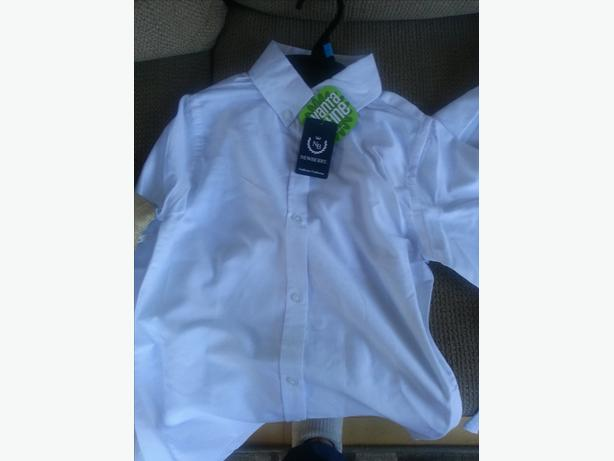 Girls' White Long Sleeved Button Down Uniiform Shirt