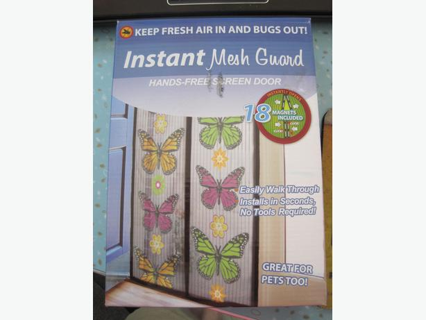 Mesh Magnetic Bug Panel Screen with Butterfly Design