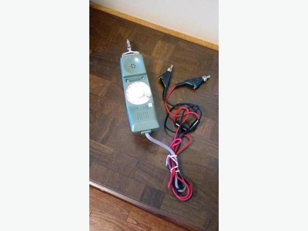 TELEPHONE LINEMAN'S ROTARY PHONE / HANDSET