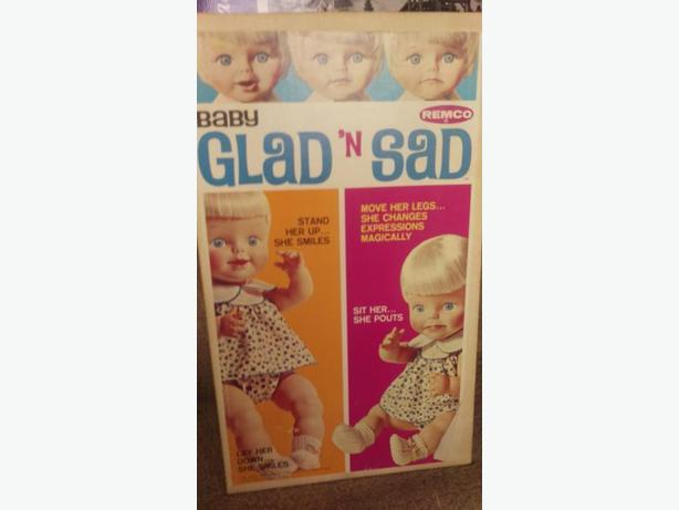 Reduced Very rare 1966 Vintage Remco Glad n' Sad baby doll