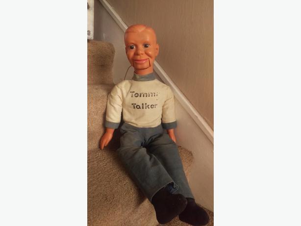 Rare Vintage 1960's Tommy Talker Ventriloquist Dummy Puppet