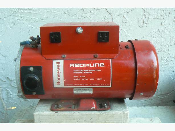 Honeywell Redi Line Motor Generator 36V DC to 120V AC