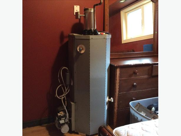 Beckett Oil hot water boiler